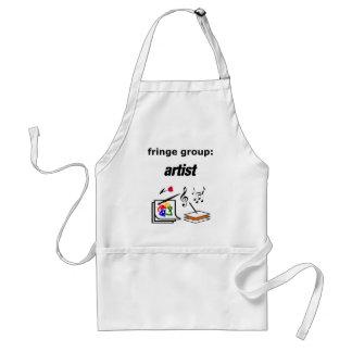 fringe group: artist adult apron