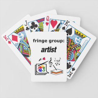 fringe group: artist bicycle playing cards