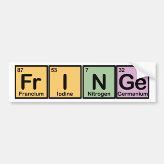Fringe made of Elements Bumper Stickers