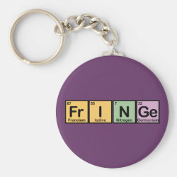Basic Button Keychain with Fringe design