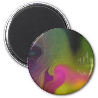 """""""Fringe Of Ascension"""" Round Sticker II 2 Inch Round Magnet"""