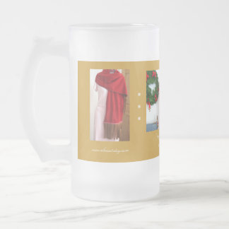 Fringe Scarf Wrap by Gretchen Frosted Glass Mug