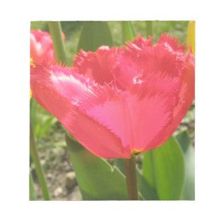 Fringed Tulips Notepad