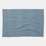 frío blanco azul claro de los lunares del invierno toallas de mano