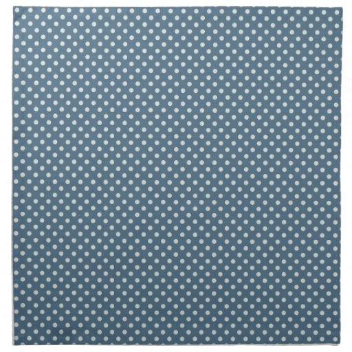 frío blanco azul claro de los lunares del invierno servilleta de papel