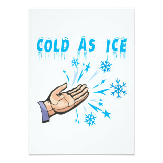 """Frío como hielo invitación 5"""" x 7"""""""