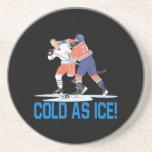 Frío como hielo posavasos diseño
