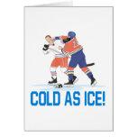 Frío como hielo tarjeta