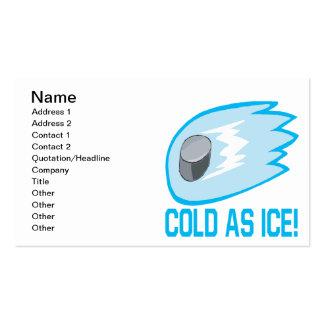 Frío como hielo tarjetas de visita