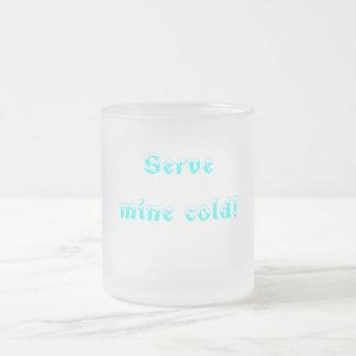 frío de la mina del servicio taza de café esmerilada