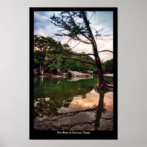Frio River Sunset Poster