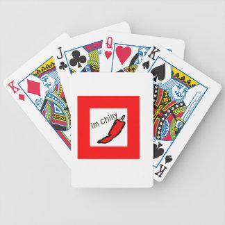 frío rojo picante cartas de juego
