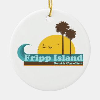 Fripp Beach Christmas Ornament