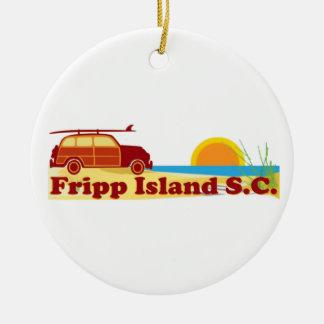 Fripp Beach Christmas Tree Ornament