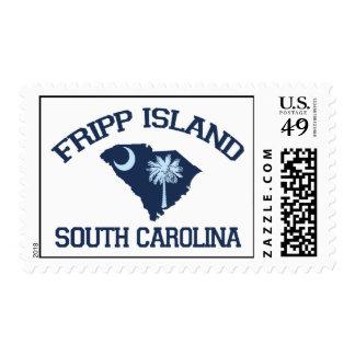 Fripp Beach Postage Stamp