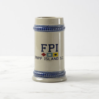 Fripp Island South Carolina. 18 Oz Beer Stein