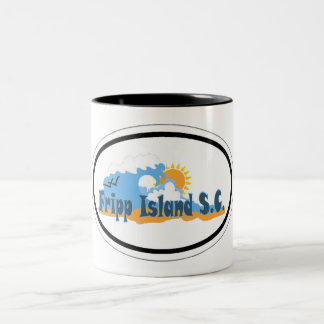 Fripp Island South Carolina. Two-Tone Coffee Mug