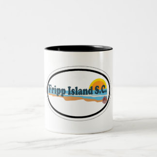 Fripp Island South Carolina. Two-Tone Coffee Mug