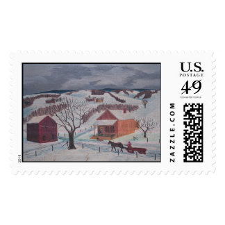 Frips winter farm stamp