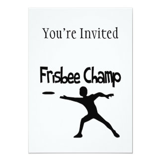 Frisbee Champ Card