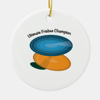 Frisbee Champ Ceramic Ornament