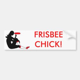 Frisbee Chick Bumper Sticker