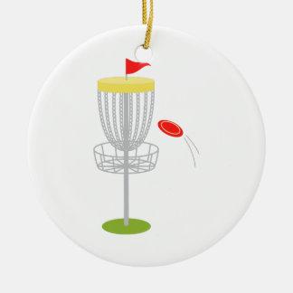 Frisbee Disc Golf Ceramic Ornament