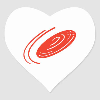 FRISBEE DISC HEART STICKER
