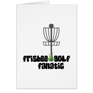 Frisbee Golf Fanatic Greeting Card