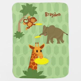 Frisbee Jungle Baby Blanket