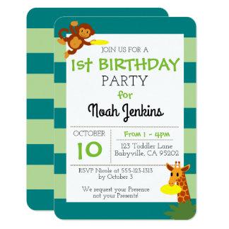 Frisbee Jungle Birthday Party 3x5 Invitation
