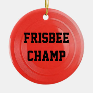 Frisbee Lover Personalized Ornament