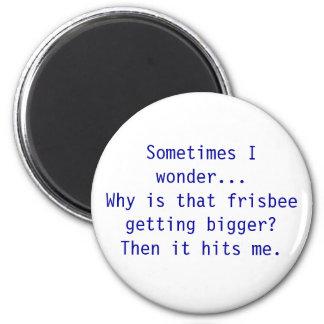 Frisbee 2 Inch Round Magnet
