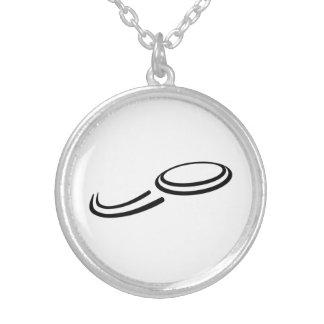 Frisbee Round Pendant Necklace