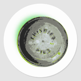 Frisbee Pie Tin Earth Colors Classic Round Sticker