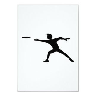 Frisbee Silhouette Card