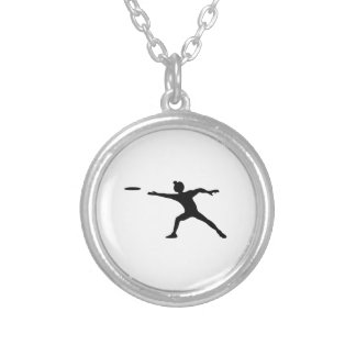 Frisbee Silhouette Necklace