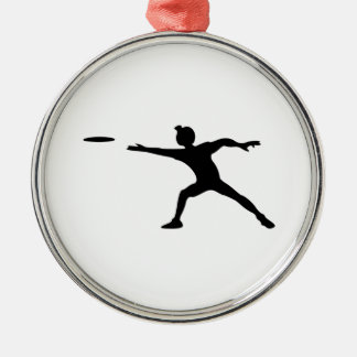Frisbee Silhouette Christmas Ornaments