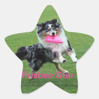 frisbee star sticker