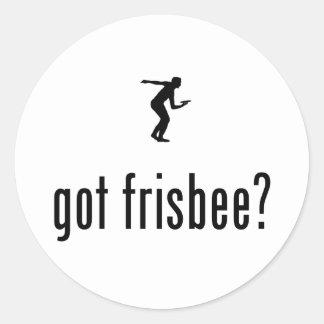Frisbee Round Sticker