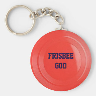 Frisbee Texture Personalized Keychain