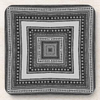 Frisco Black and White No. 4 Coasters