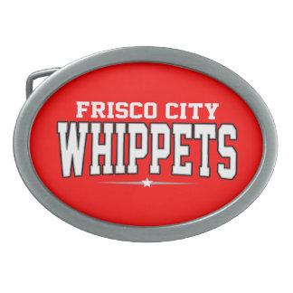 Frisco City High School; Whippets Oval Belt Buckle