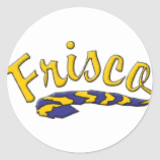 Frisco High School Tail Classic Round Sticker