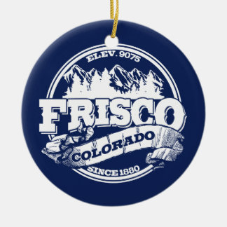 Frisco Old Circle Blue Ceramic Ornament