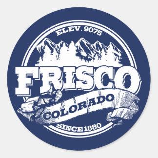 Frisco Old Circle Blue Classic Round Sticker