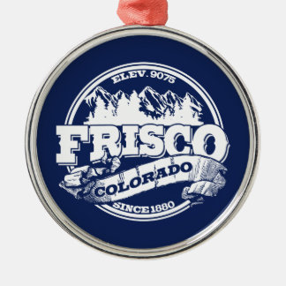 Frisco Old Circle Blue Metal Ornament