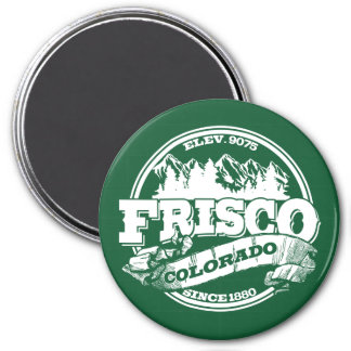 Frisco Old Circle Green 3 Inch Round Magnet
