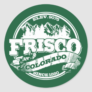 Frisco Old Circle Green Classic Round Sticker