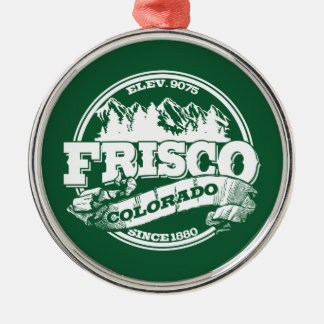 Frisco Old Circle Green Metal Ornament